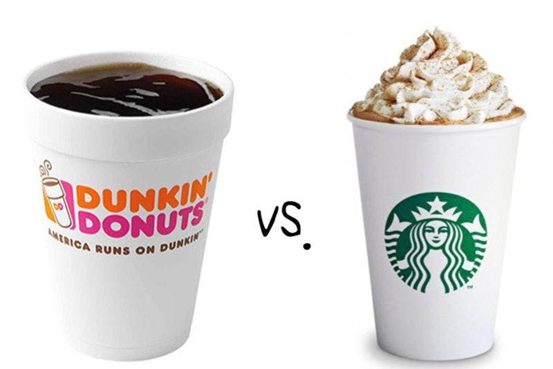 Dunkin vs Starbucks